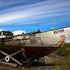Old deserted boat in Homer, Alaska